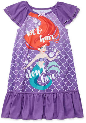 Disney Girls Knit Nightshirt The Little Mermaid