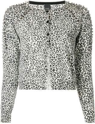 Pinko leopard print cardigan
