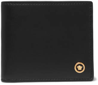 Versace Leather Billfold Wallet - Men - Black