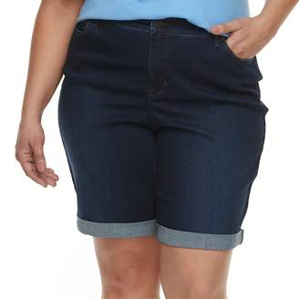 Croft & Barrow Plus Size Denim Bermuda Shorts