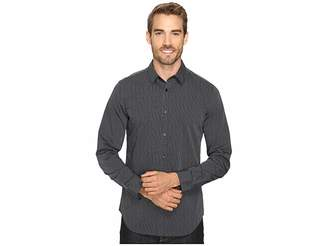 Calvin Klein Slim Fit Long Sleeve Infinite Cool Button Down Stripe Shirt