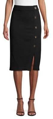Donna Karan Knit Bodycon Button Skirt