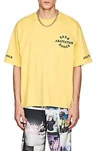 ADAPTATION / BORN X RAISED Men's Logo Cotton T-Shirt - Yellow