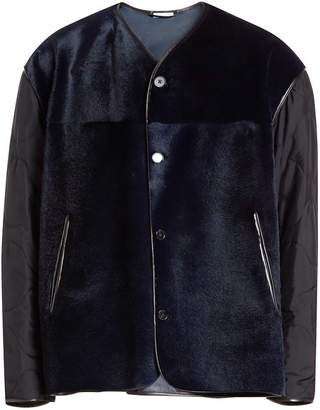 Jil Sander Providence Kangaroo Fur Jacket with Leather