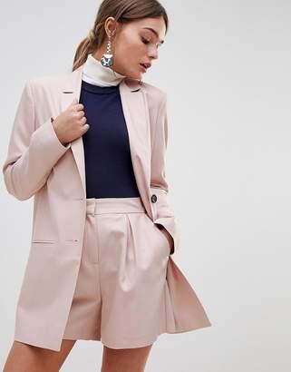 Asos Design Mini Jacquard Longline Blazer
