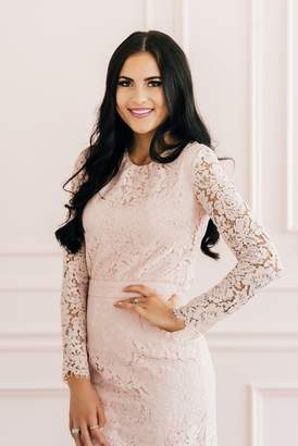 Rachel Parcell Romantic Lace Top in Rose