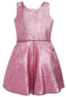Zoe Girl's Flirty Fun Sara Metallic Foil Swing Dress