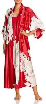 Natori Opulent Satin Printed Robe