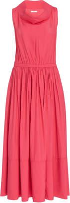 Co Sleeveless Broadcloth Cowl Neck Dress