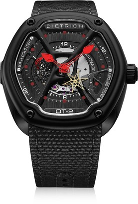 Dietrich OT-2 316L Steel Men's Watch w/Red Luminova and Nylon Strap