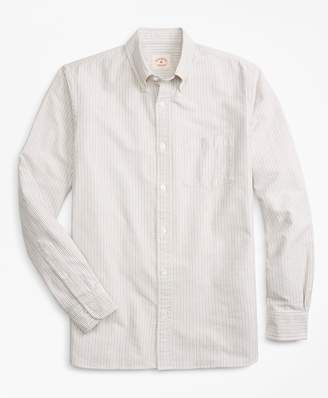 Brooks Brothers Alternating-Stripe Supima Cotton Oxford Sport Shirt