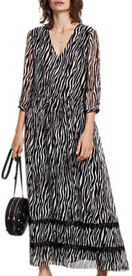Hush Zebra Dress, Black Multi