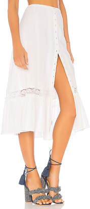 Majorelle Gypsum Midi Skirt