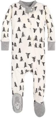 Burt's Bees Baby Trees Organic Cotton Zip Front Footed Pajamas
