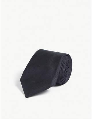 Corneliani Herringbone silk tie