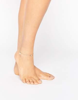 Asos Heart Charm Anklet