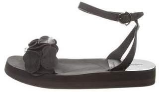 Moncler Leather Slingback Sandals