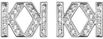 Karl Lagerfeld Paris Double K Stud Earrings