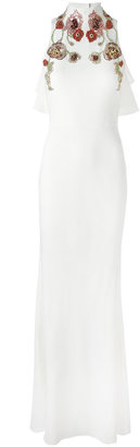 Alexander McQueen embroidered gown $6,345 thestylecure.com