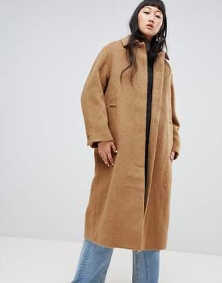 Weekday Long Mohair Wool Coat