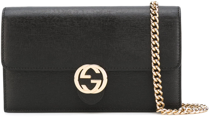 Gucci Gucci interlocking GG chain wallet