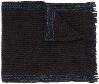 HUGO BOSS two tone knit scarf
