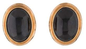 Gump's 14K Onyx Earclip Earrings