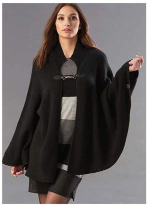 Paige Charlie Black-Cape With Toggle