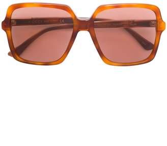 Gucci oversized square frame sunglasses