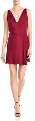 Haute Hippie Cassidy Silk Crossover Mini Dress