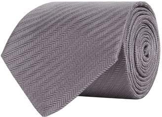 Turnbull & Asser Diagonal Herringbone Silk Tie