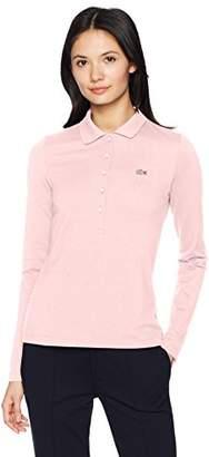 Lacoste Women's Long Sleeve Slim Fit Stretch Mini Piqué Polo