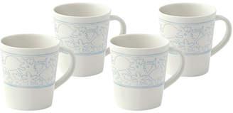 ED Ellen Degeneres By Royal Doulton Set Of 4 Polar Blue Porcelain Mugs