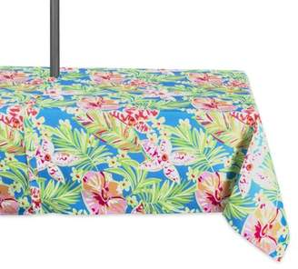 "Dii DII Summer Floral Outdoor Umbrella Tablecloth, 60""x84"", 100% Polyester, Multiple Sizes/Shapes"