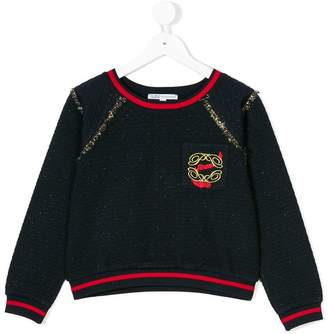 Patrizia Pepe Junior quilted detail sweatshirt