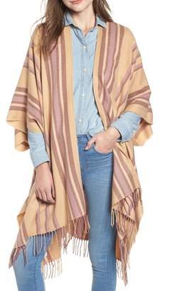 Madewell Placed Stripe Poncho Scarf