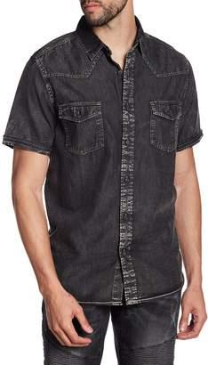 X-Ray Faded Short Sleeve Slim Fit Shirt