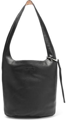 Elizabeth and James - Finley Courier Textured-leather Shoulder Bag - Black $495 thestylecure.com