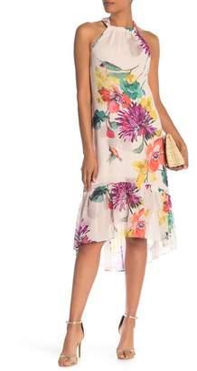 Trina Turk Rosales Floral Silk Blend Hi-Lo Dress