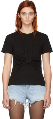 Alexander Wang Black Twist Front T-Shirt