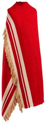 Isabel Marant Silk Blend Wrap Scarf - Womens - Red