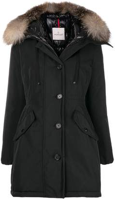 Moncler fox fur-trimmed coat