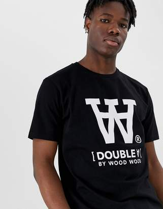 Wood Wood Ace large logo t-shirt in black