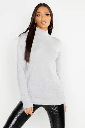 boohoo Roll Neck Fine Gauge Jumper