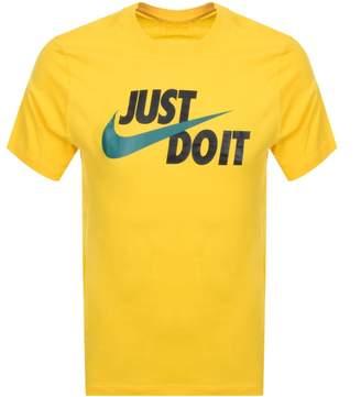 Nike Just Do It Logo T Shirt Yellow