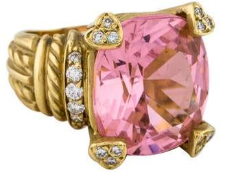 Judith Ripka 18K Crystal & Diamond Cocktail Ring