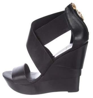Diane von Furstenberg Wedge Leather Sandals