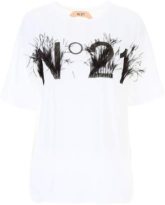 N°21 N.21 T-shirt With Feathers