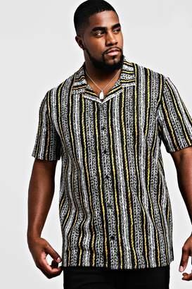 Big & Tall Revere Collared Stripe Shirt