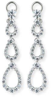 FANTASIA Three-Tier Open CZ Crystal Drop Earrings